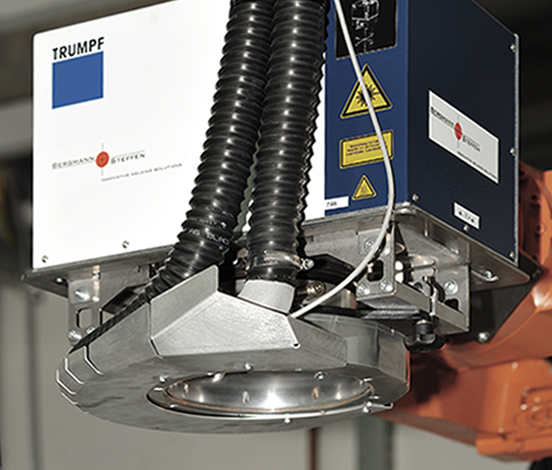 Trumpf Laser Welding Scanner with Tornadoblade blower airknife